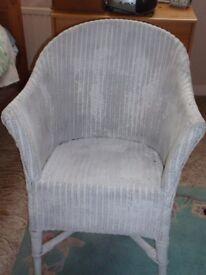 Attractive White Wicker Chair