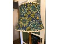Vintage standard lamp vase and shade