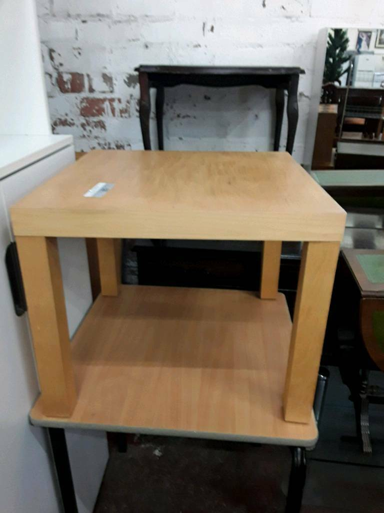 Small Square Wooden Coffee Table.
