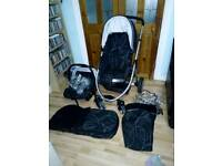 Immaculate Mothercare Xcursion travel system with extras