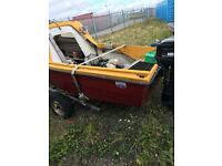 Fishing boat on trailer 20hp outboard& seagull back up engine.