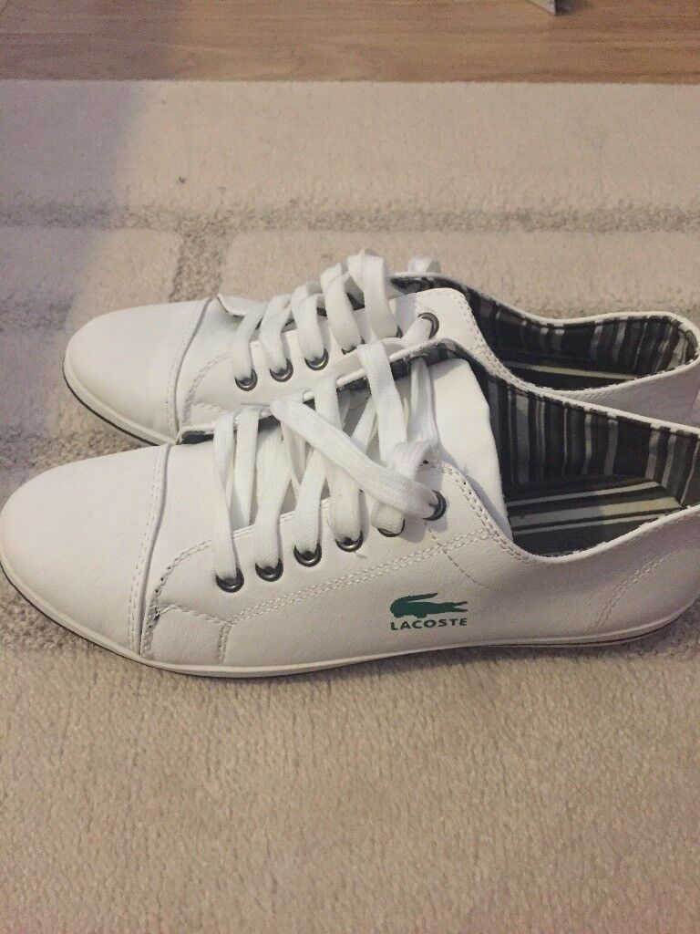 854ab464c Lacoste trainers new never been worn. Size 8 unwanted present !