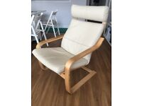 Ikea Poang Armchair - with leather cushion