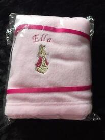 Ella named pink baby blanket - Brand New