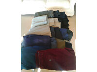 18 Pairs mens trousers. £20. w28-32. l 28-32.