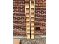 2x IKEA Blu ray, DVD or CD racks in light Oak