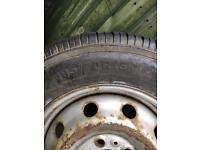 Wheel and tyre 195/70r/15 van relay Ducato boxer