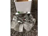 Bathroom traditional radiator valves set of 2 brand new