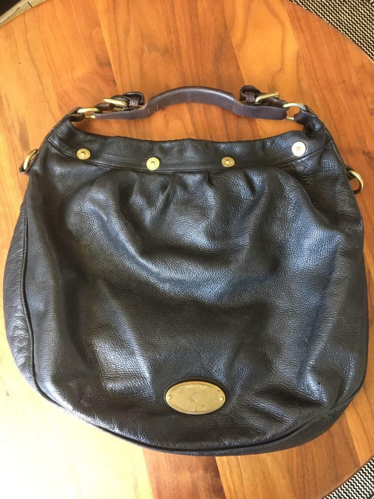 ae1e5b1c85 Mulberry black leather handbag