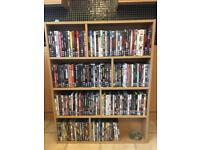 170 DVDs for sale with cabinet
