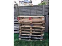 Free pallets Euro pallets and heavier pallets and firewood