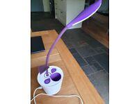 Flower bud lamp for child's desk, rechargeable