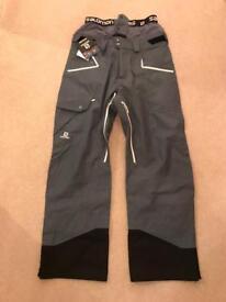 Salomon Foresight ski trousers, Men's Large, BNWT