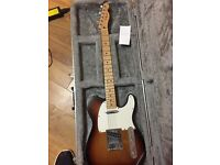Fender Telecaster with Airplane Travel case.