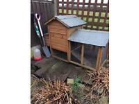 Chicken or rabbit hutch with run £20