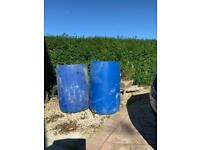 45 Gallon heavy duty plastic drums. (FREE)