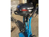 2.5HP SUZUKI 4 STROKE OUTBOARD BOAT ENGINE AUXILIARY FISHING INFLATABLE TENDER