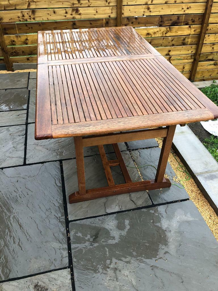 Outdoor Bq Dining Table With 6 Chairs In Lepton West Yorkshire Gumtree