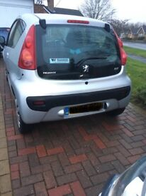 Peugeot 107 urban move for sale 2008. £2,300 ovno only 38,000 miles.