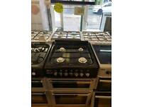FLAVEL SILVER  60CM DOUBLE OVEN GAS COOKER