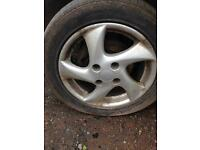"Peugeot alloy wheels 15"""