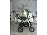 BABY INFANT STROLLER PRAM PUSCHCHAIR - WHITE - USED - GOOD CONDITION - OXFORD