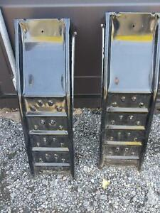 HEAVY DUTY CAR WHEEL RAMPS (2) OAKVILLE 905 510-8720 LIKE NEW just need a wash Mechanics Auto Self Oil Change