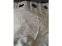 Large Woven Lined Curtains, Eyelet