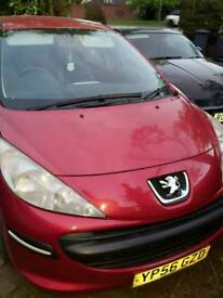 Peugeot 207 1.4 petrol low miles long mot