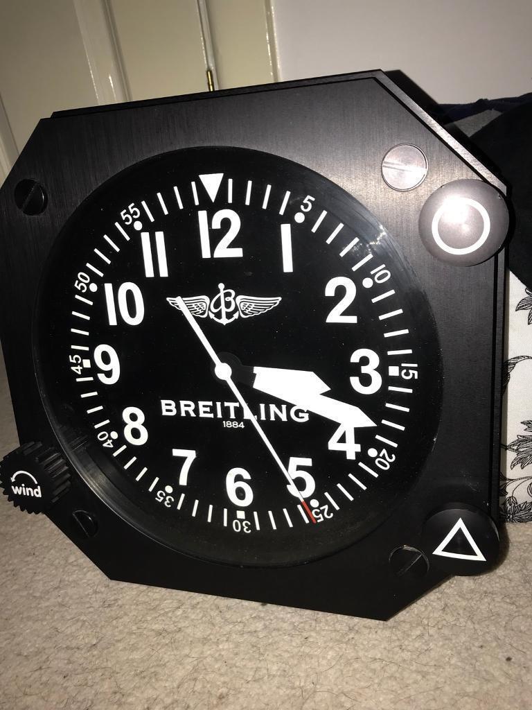 RARE BREITLING WALL CLOCK DEALER JEWELLER SHOP