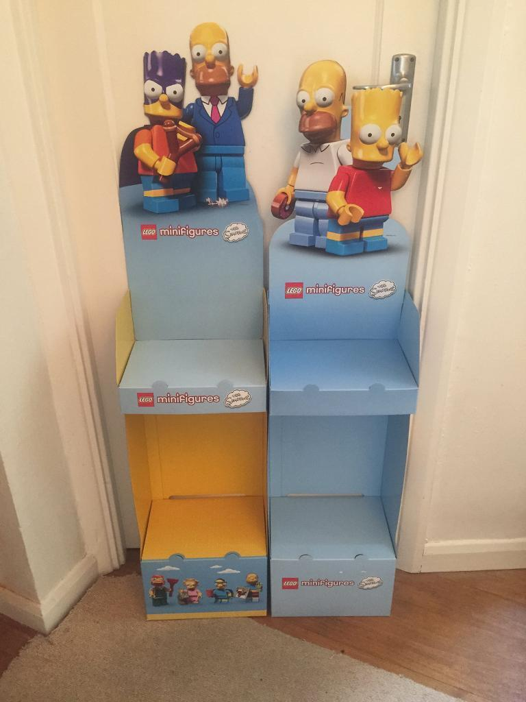 Two cardboard display units for Lego Simpsons Minifigures Series 12. Buyer must collectin Kingston, LondonGumtree - Two cardboard display units for Lego Simpsons Minifigures Series 1 & 2. Buyer must collect. No offers. Timewasters will be ignored