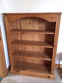 Solid pine bookshelf unit