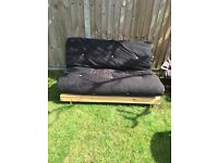 Double Futon with wooden base