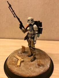 *RARE* Genuine Hasbro Star Wars Black Series Sandtrooper (Custom Mimban Stormtrooper) with Base