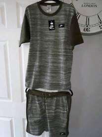 nike shorts & t-shirt set