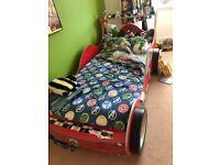 Boys racing car bedroom furniture