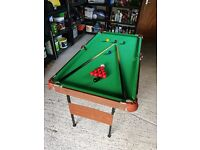 Snooker table and accessories for sale