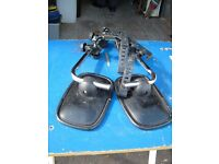 Pair of mirrors for use when towing a caravan