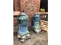 A pair of Victorian roof Cowls