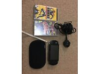 Sony PSP with 2 game, charger and protective cover