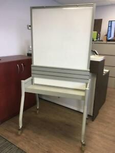 Double Sided Whiteboard / Task Board on Casters - $125