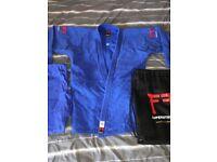 Fighting Films Superstar 750 Blue 180 Slim Fit Judo Gi. HARDLY USED.