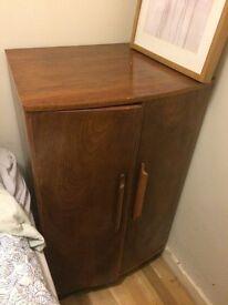 Two door wooden storage cabinet
