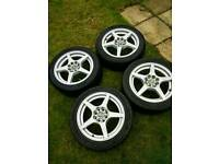 Alloy wheels previously on an mx-5 mkii 15inch