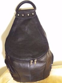 Real leather hand made backpack