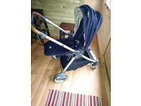 MAMAS AND PAPAS ARMADILLO FLIP XT NAVY AND TAN STROLLER PRAM