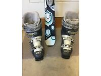 Ladies ski boot fleece lined size 5