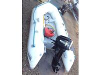 Outboard with inflatable boat 2.9 meter long