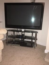 50inch plasma tv/bluejay/glass unit