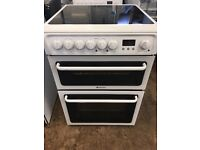 Hotpoint HAE60 60cm Double Electric Cooker in White #3805
